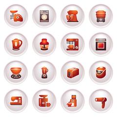 Home appliances, set 2 . Black red series.