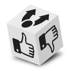 cube 3D, teilen, gefällt