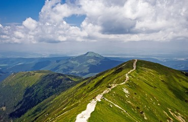 Panorama of the Rakon peak in the Western Tatras (Rohace)