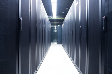 Server rack cluster in a data center