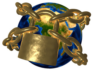 Conspiracy theories - Earth in golden chain - Europe