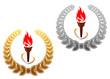 Flaming torches for sports design