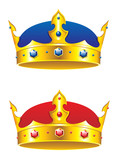 King crown with gems and embellishments poster