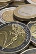 Extreme macro euro coins