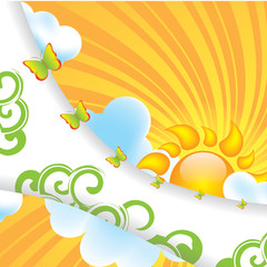 Abstract summer design background