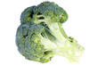 Close-up of broccoli on a white background