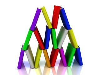 Tower from colourful books
