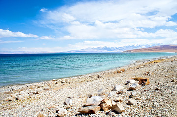 The lake Manasarovar, Tibet, Kailas