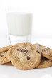 Fresh Chocolate Chip Cookies with milk