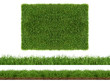 Leinwanddruck Bild - rasen gras wiese panorama - freigestellt auf weißem hintergrund