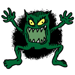Cartoon terror monster