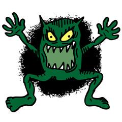 Cartoon terror monster