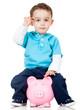 Boy with a piggybank