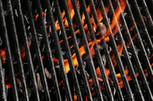 Fotobehang Barbecue Charcoal fire grill