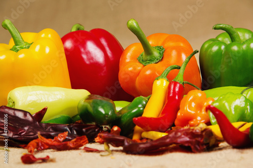 Chilli pepper still life