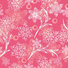 seamless with cartoon flowers