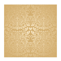 seamless brown batik wallpaper