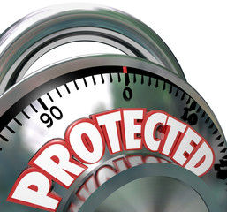 Protected Combination Lock Security Protection