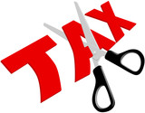 Scissors cut unfair too high Taxes