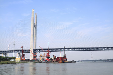 Bridge and port crane