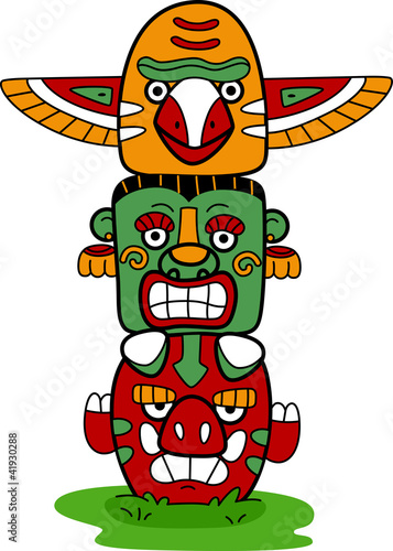 Papiers peints Indiens Totem Pole