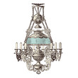 elegant chandelier with glass shade