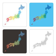 ドットの日本地図セット