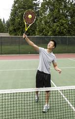 Tennis Overhead Volley