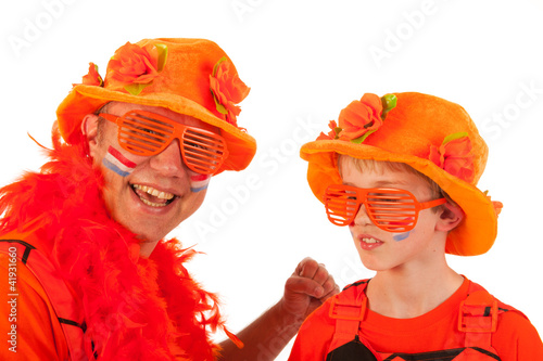 Dutch orange soccer supporters