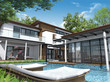 3d render of building house