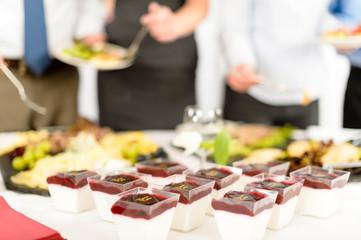 Catering dessert mini creamy appetizers