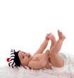 bébé de 6 mois avec un petit bonnet de marin