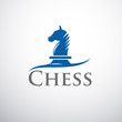 Logo horse of chess # Vector