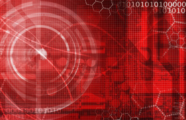 Dark red technical background