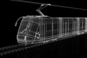 Strassenbahn in 3D