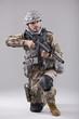 Kneeling Soldier with machine gun