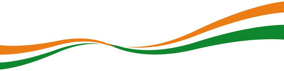 Schwung Welle Linie Nationalfarben Indien Indisch mit QXP9 Datei