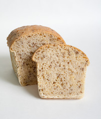 Home bread with linseed