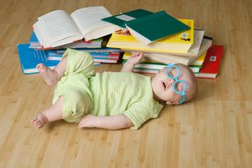 Little reader sleeps