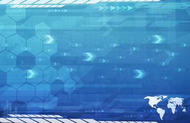 A Global Business Abstract blue Background Art Texture