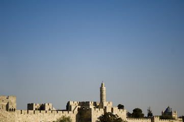 the old city wall of jerusalem, israel