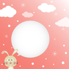 Rabbit speaking with a speech bubble