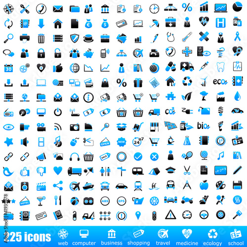 225 blue icons