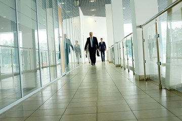 Businesspeople on the move