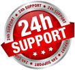 "Button Banner ""24h Support"" Red/Silver"