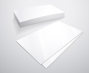 Business card. Vector template for your design