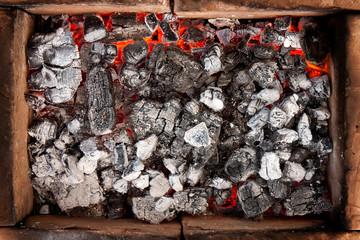 Glowing charcoal