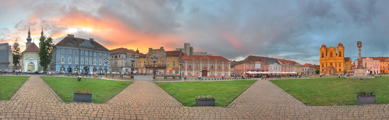 Union Square panorama,Timisoara