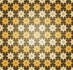 Abstract Seamless Star Pattern