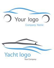 Logo Car, yacht.